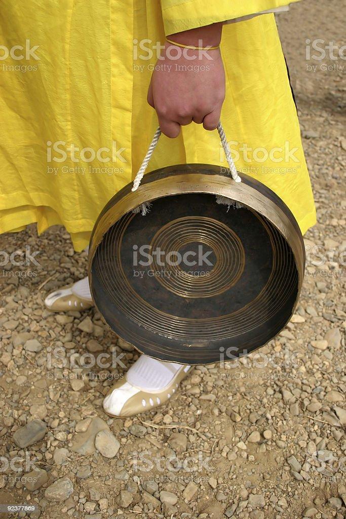 Korean drum royalty-free stock photo