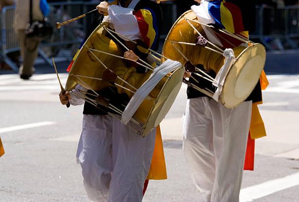 Korean drummers stock photo