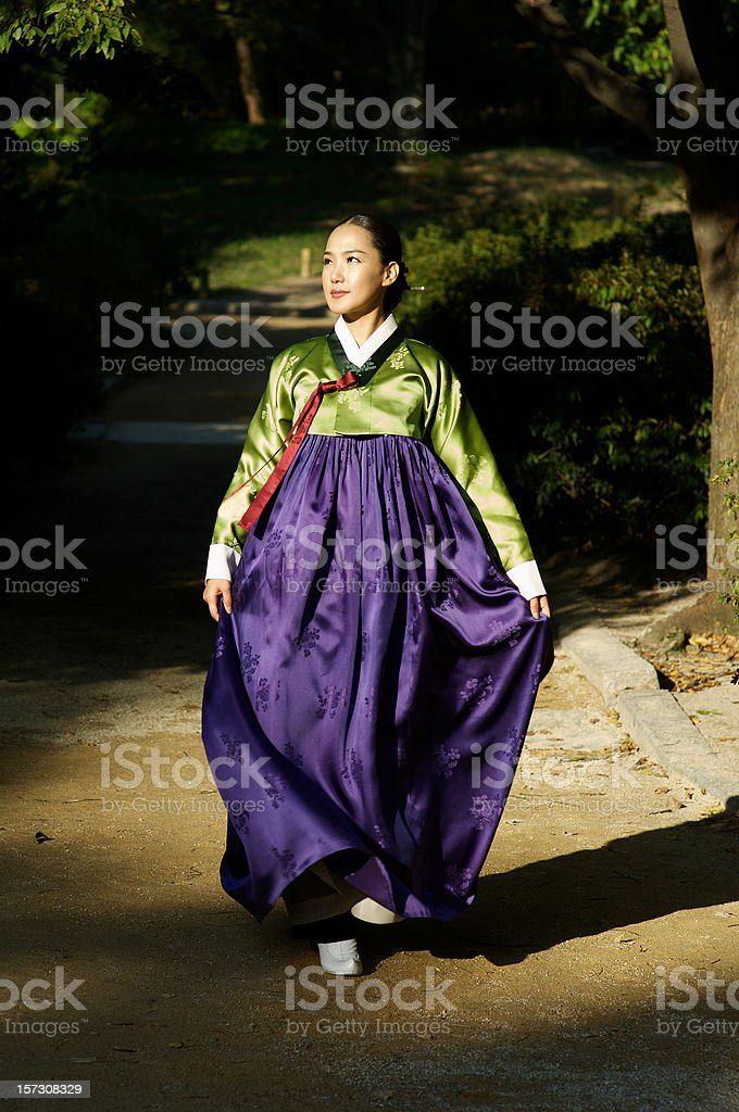 Korean fashion model stock photo