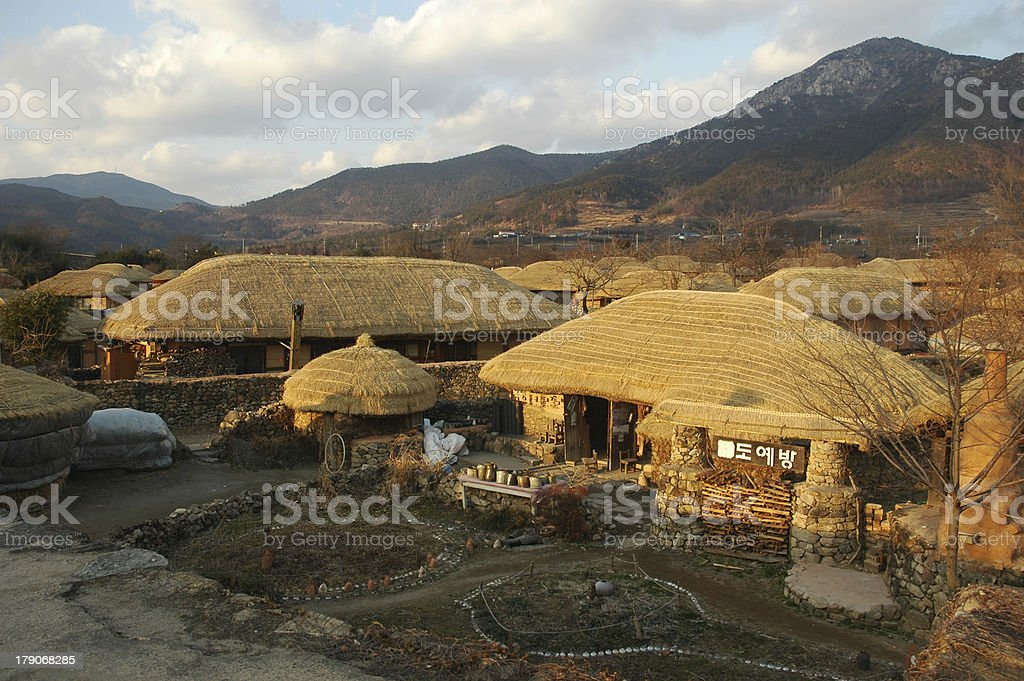 korean folk village stock photo
