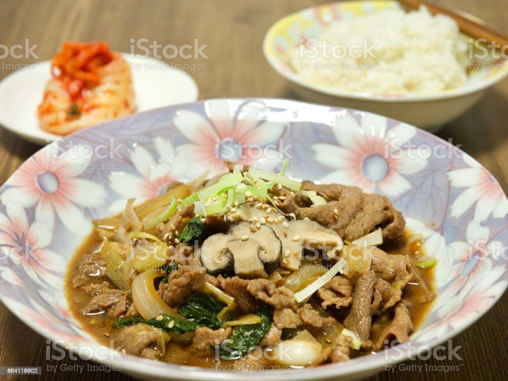 Korean food Bulgogi royalty-free stock photo