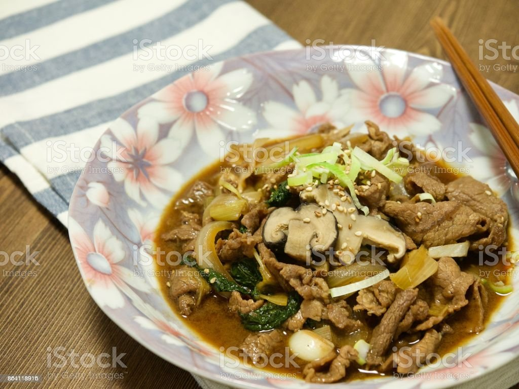 Korean food Bulgogi royalty-free stock photo