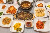 Korean food course, street cafe. Variety
