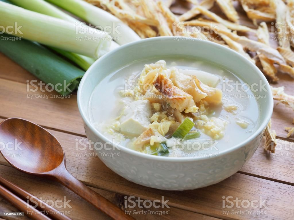 Korean food Dried pollack soup royalty-free stock photo