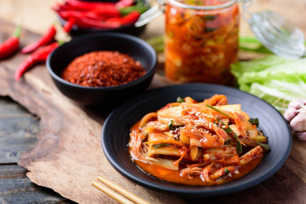 Korean food, Kimchi cabbage stock photo