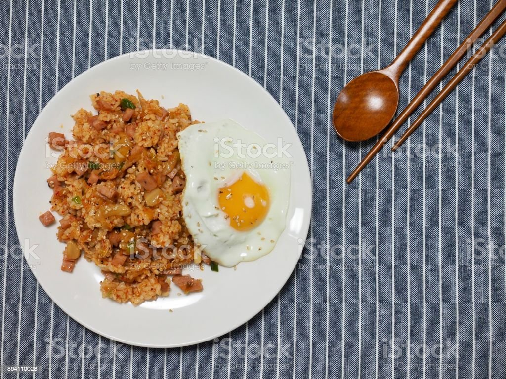 Korean food Kimchi fried rice royalty-free stock photo