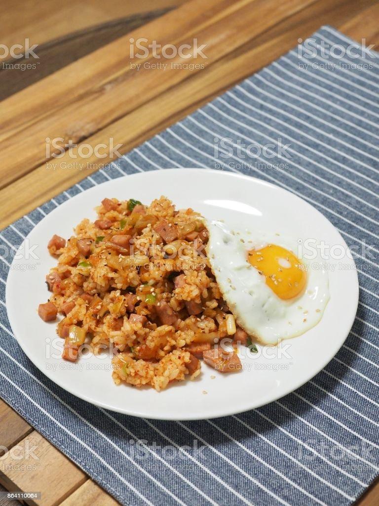 Korean food Kimchi fried rice royalty-free stock photo