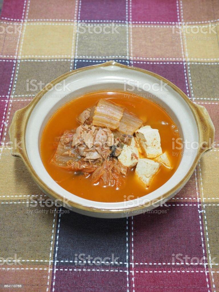 Korean food Kimchi stew royalty-free stock photo
