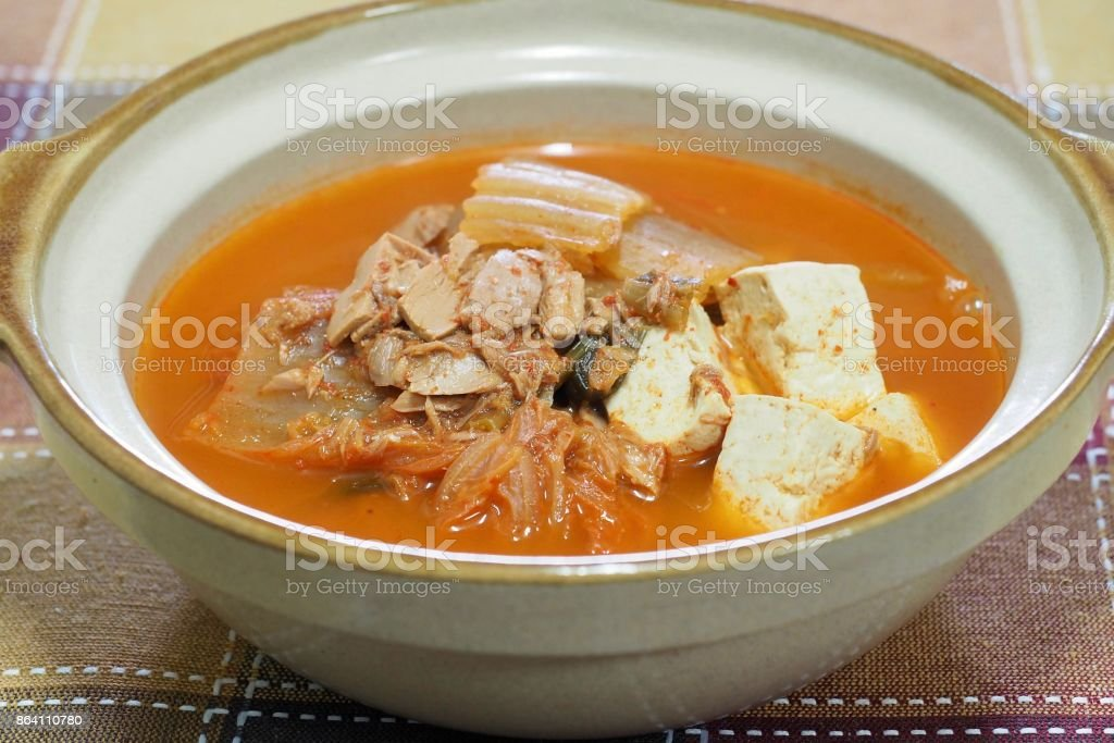 Korean food Kimchi stew royalty-free stock photo