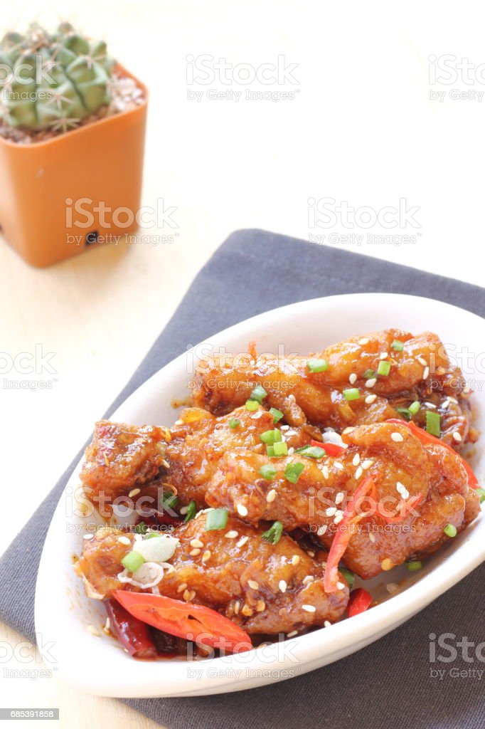Korean fried chicken foto de stock royalty-free