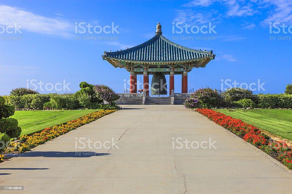 Korean Friendship Bell, San Pedro stock photo
