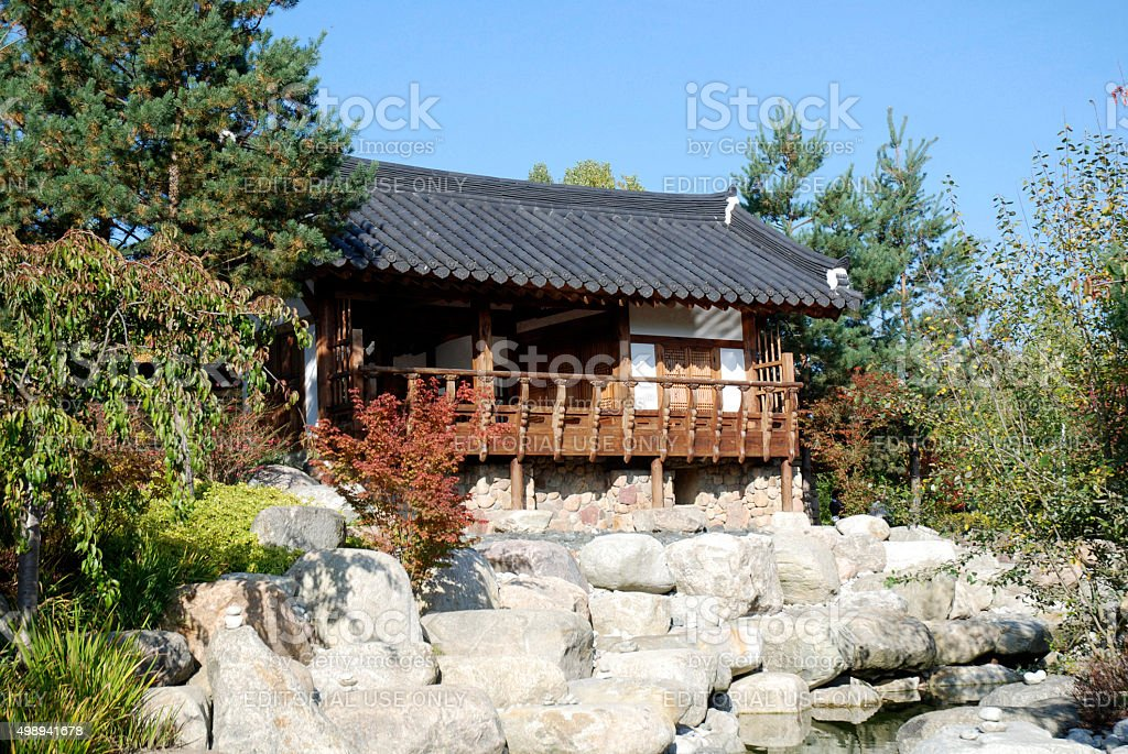 Korean garden in Berlin - Germany stock photo