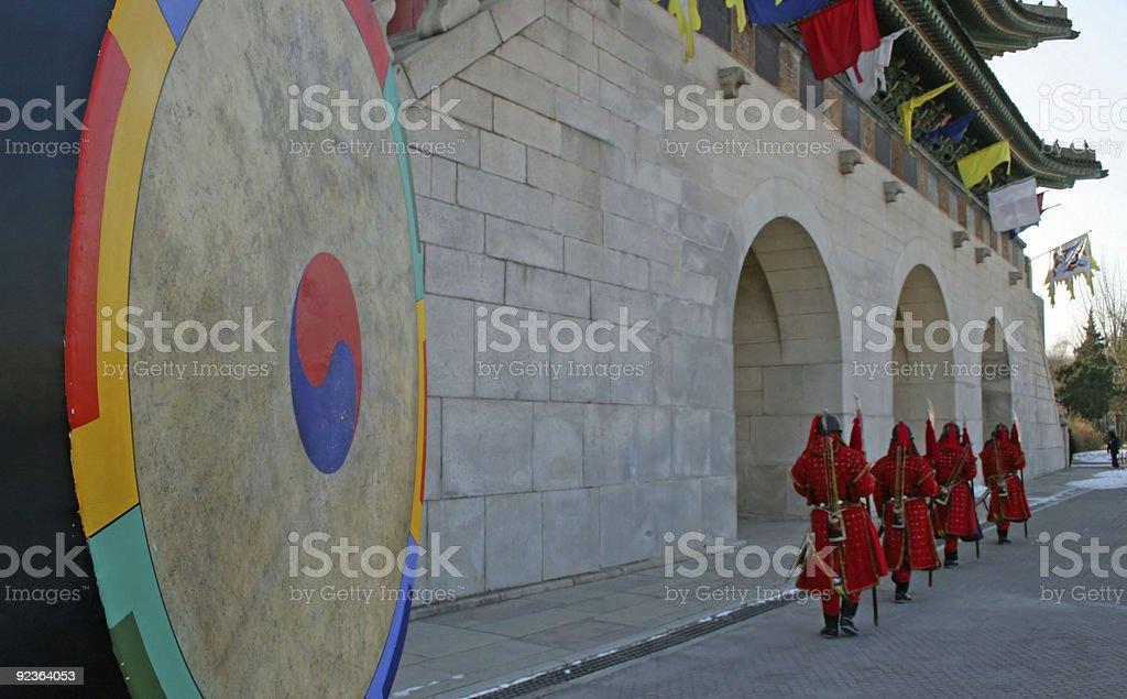 Korean guards royalty-free stock photo