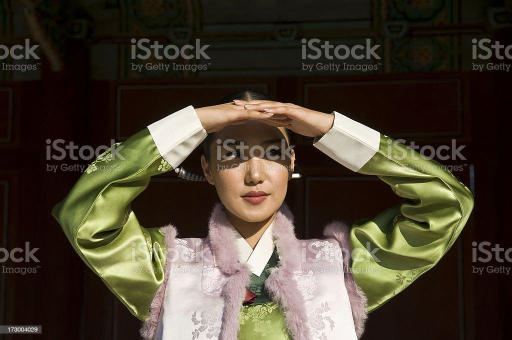 Korean hanbok royalty-free stock photo