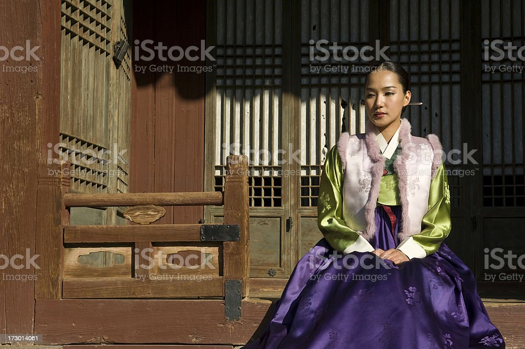 Korean hanbok stock photo
