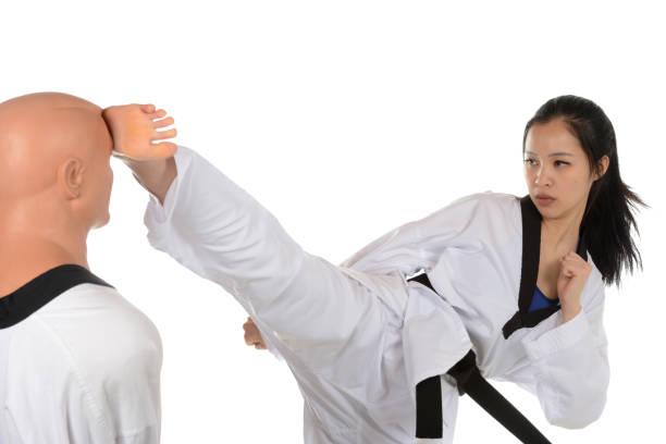 Korean Karate Contact stock photo