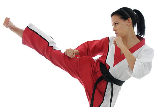 Korean Karate offense stock photo