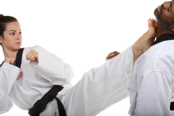 Korean Karate Self-Defense stock photo