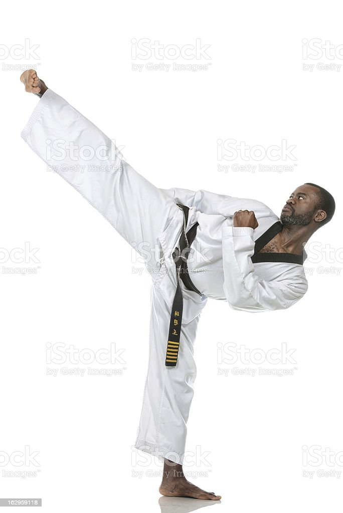 Korean Karate Side Kick stock photo