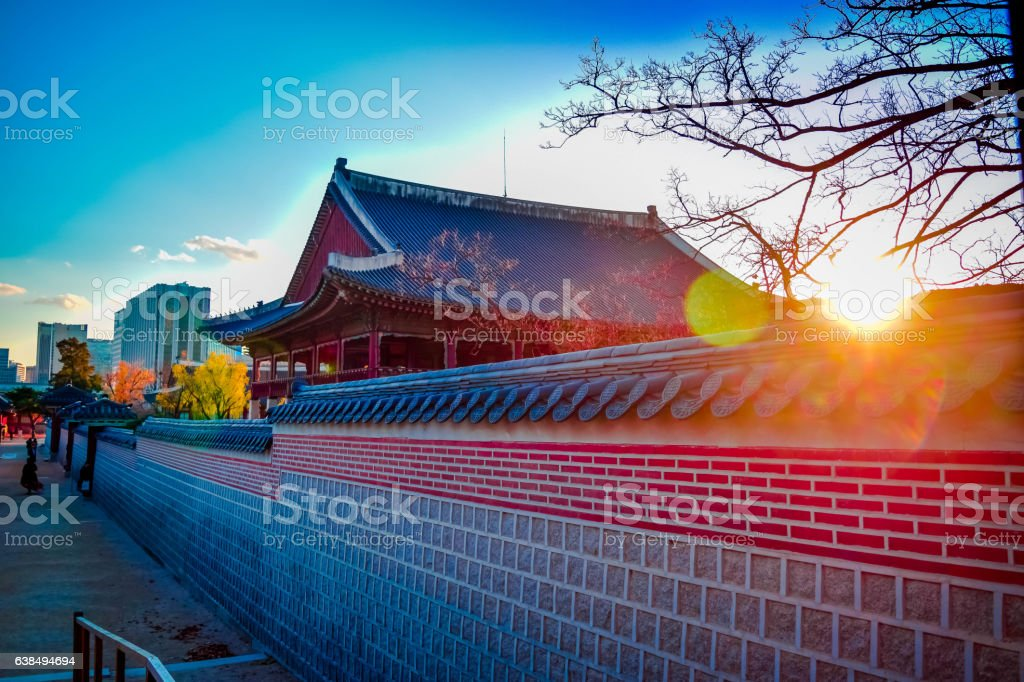 Korean Palace stock photo