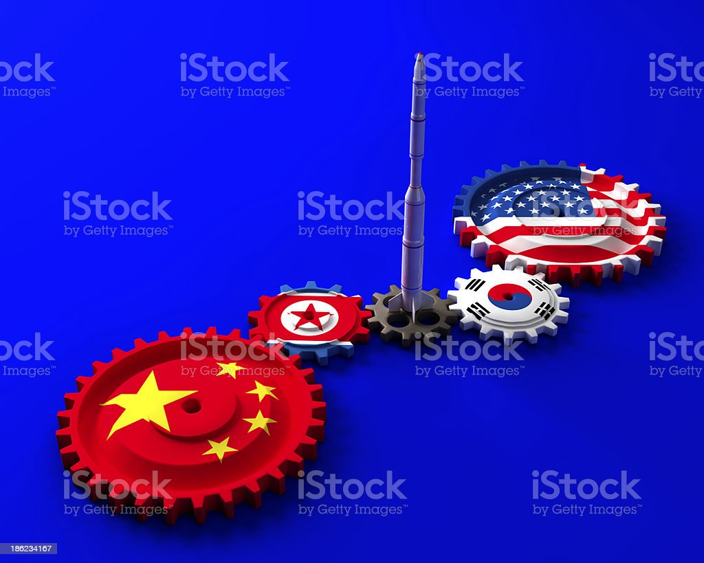 Korean Peninsula crisis stock photo