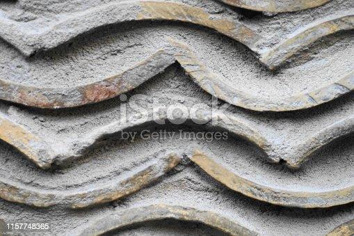 Korean roofTile pattern wall
