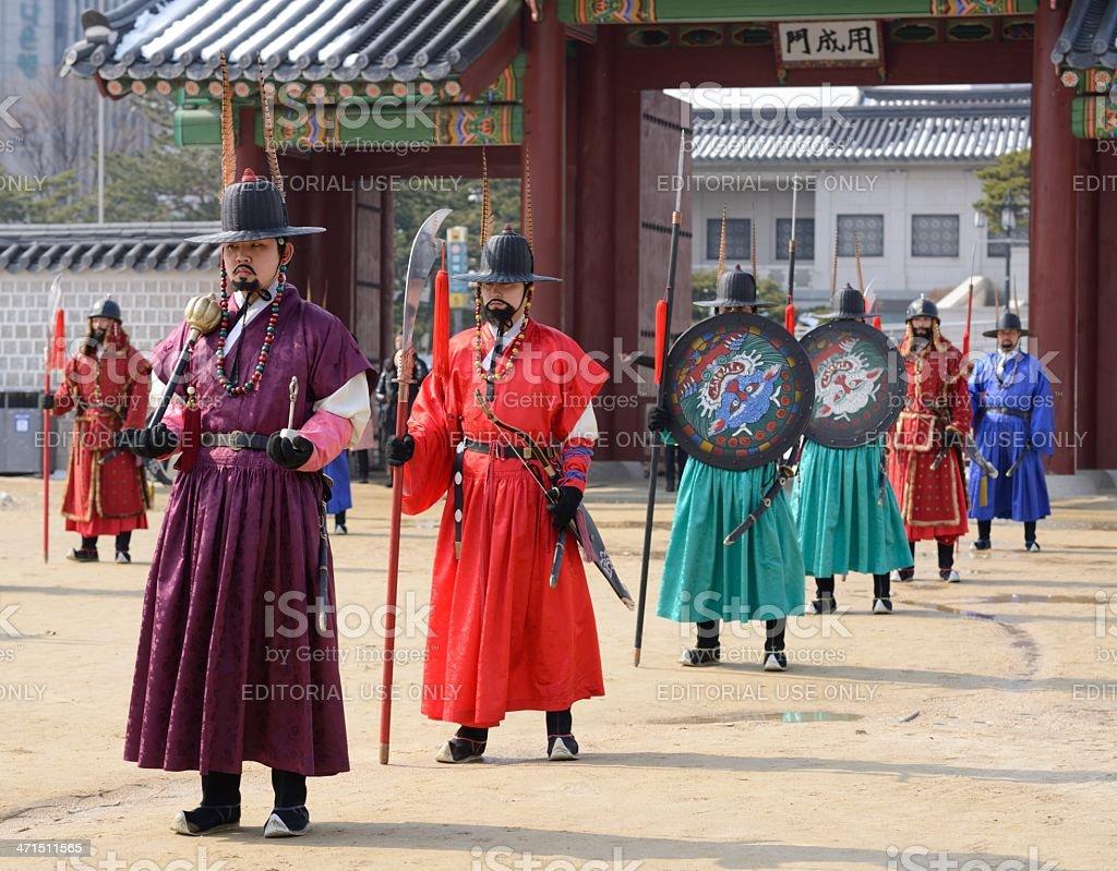 Korean Royal Gaurds royalty-free stock photo