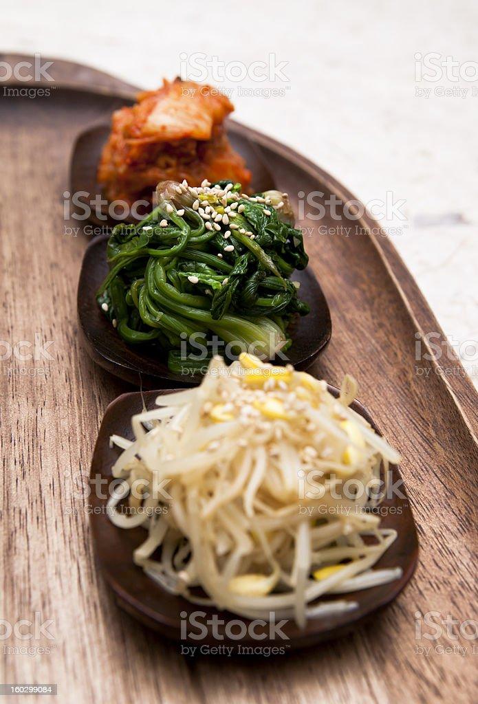 Korean side dishes stock photo