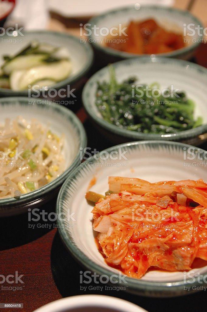 Korean side dishes royalty free stockfoto