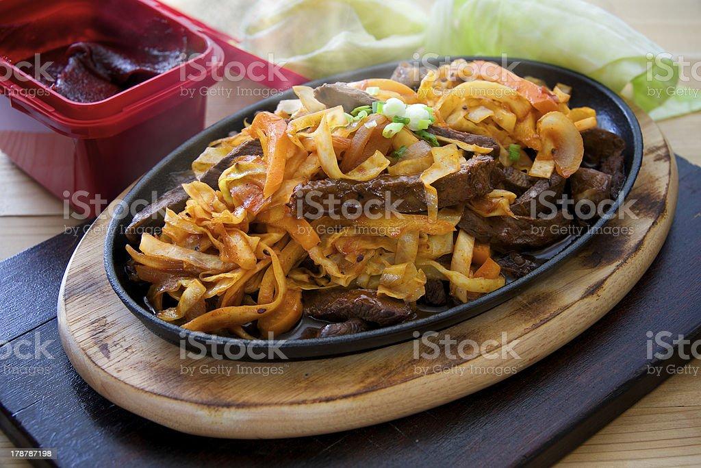 Korean steak royalty-free stock photo