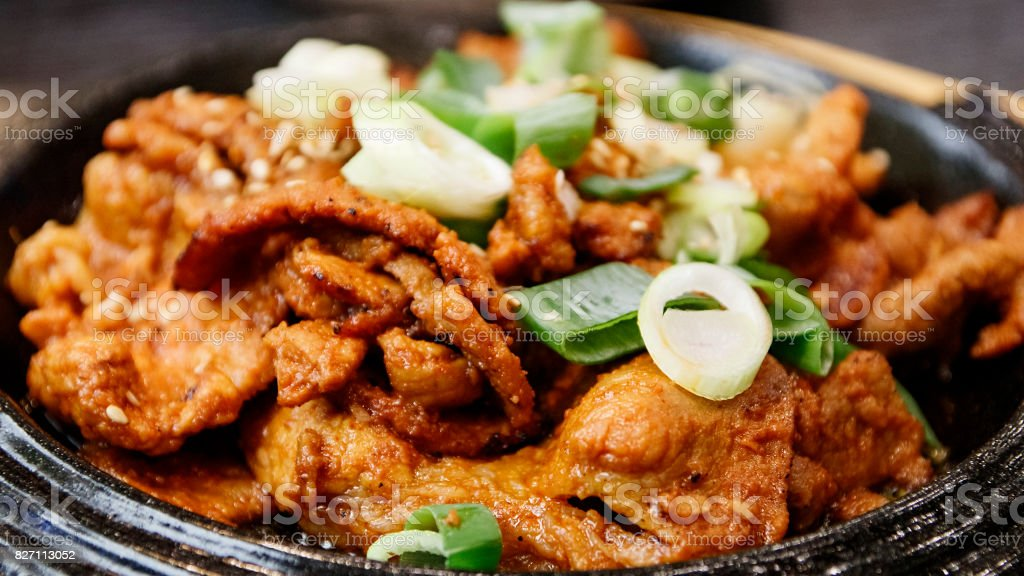 Korean Stir-Fried Pork Meat stock photo