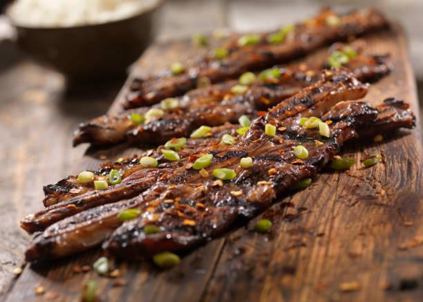 Koreanischer Stil BBQ Rindfleisch kurze Rippen mit Reis – Foto