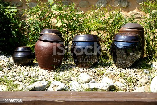Crock ceramic jar product for sauce in Korea
