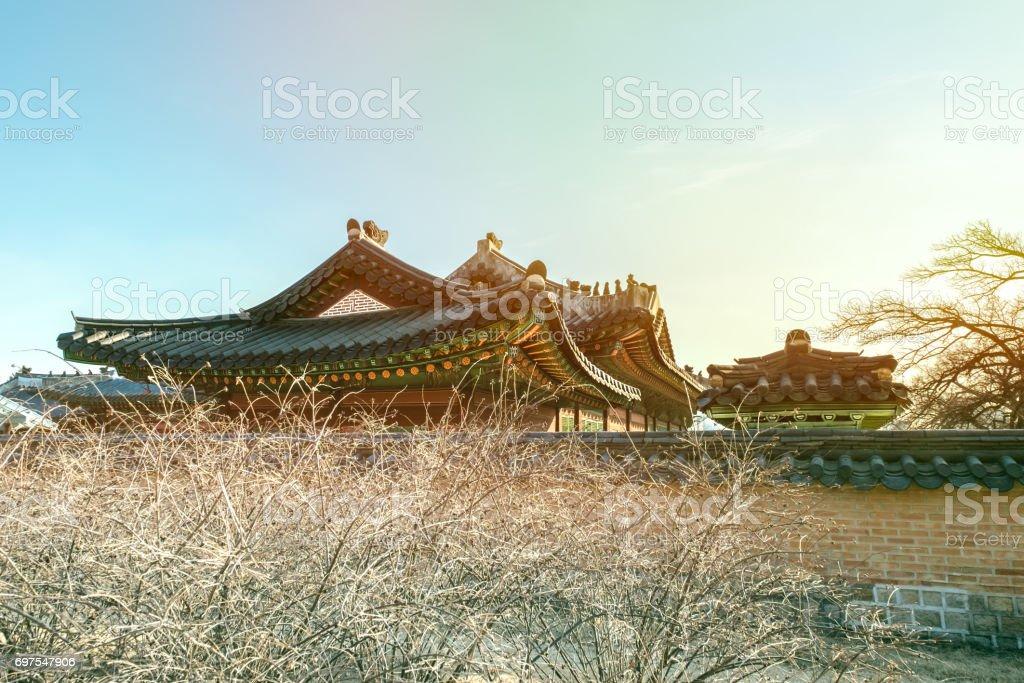 Korean Traditional Architecture Gyeongbokgung Seoul South Korea Royalty Free Stock Photo