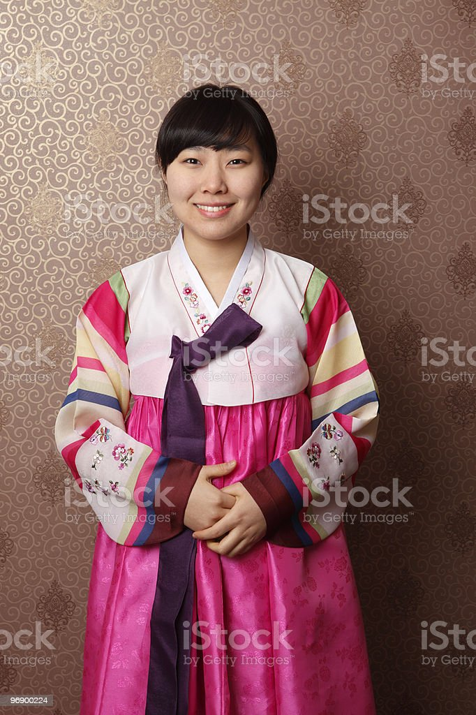 Korean Traditional Clothing royalty-free stock photo