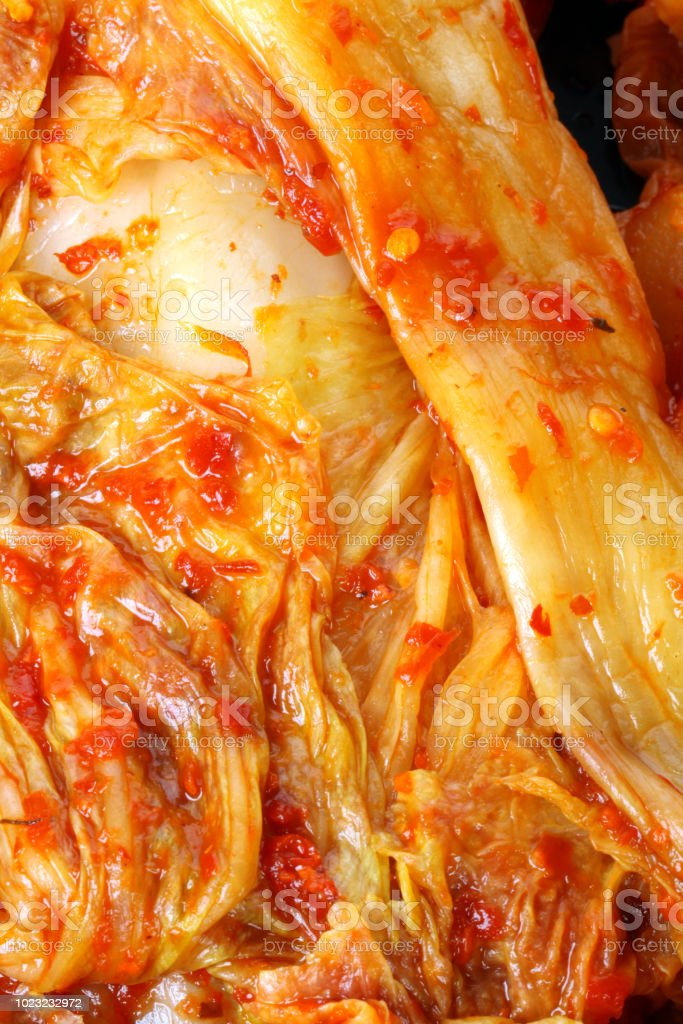 Korean traditional food cabbage kimchee stock photo