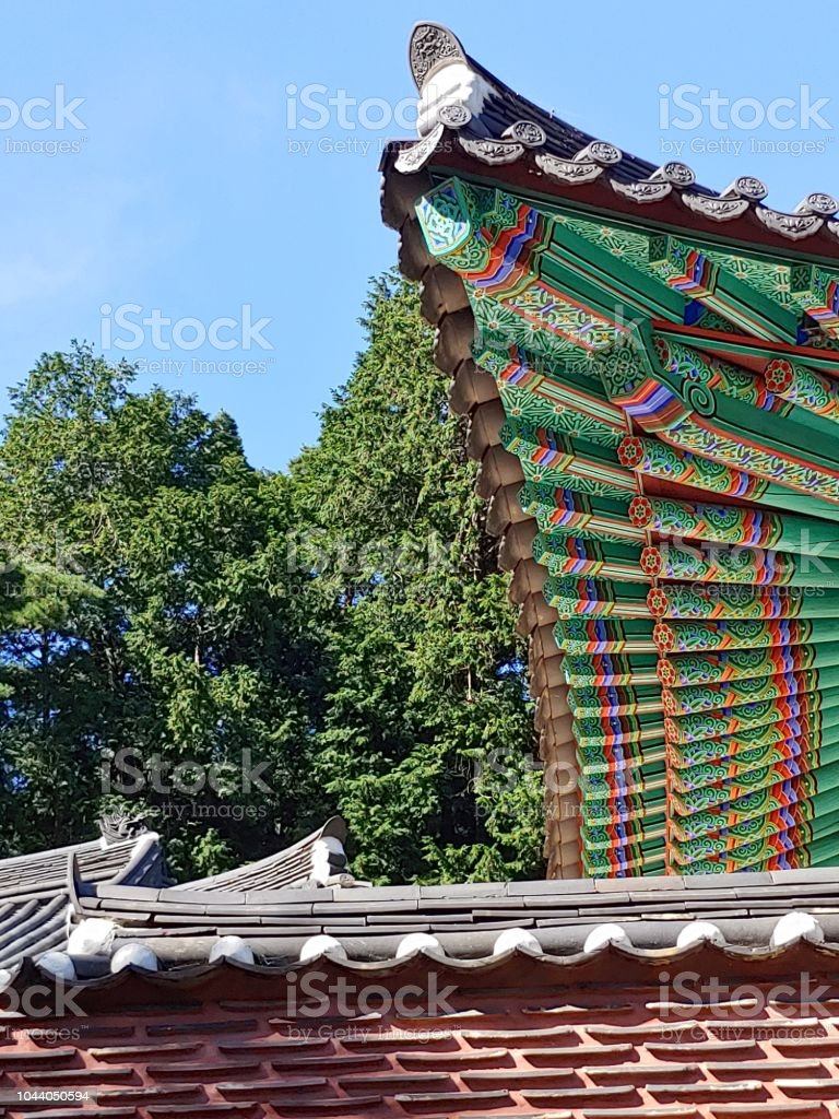 Korean Traditional Roof Design At Donghak Temple Stock Photo Download Image Now Istock