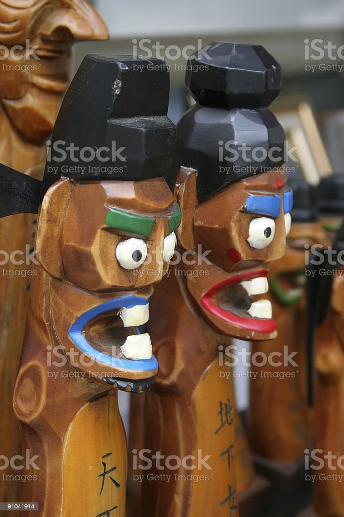 korean traditional statuette royalty-free stock photo