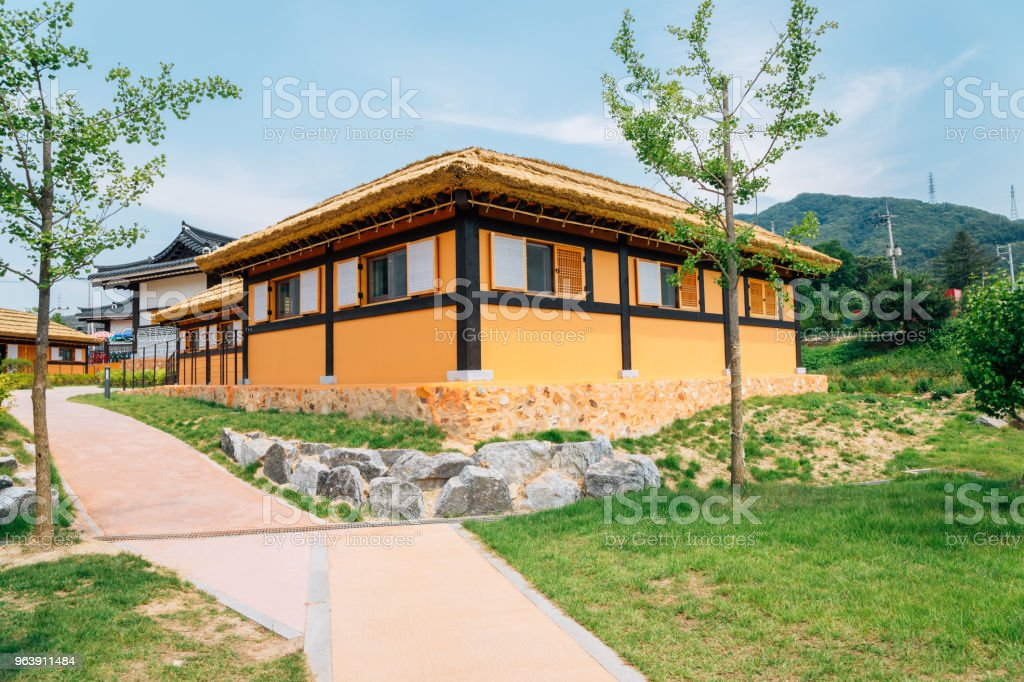 Korean traditional thatched-roof house in Chuncheon, Korea - Royalty-free Ancient Stock Photo