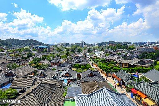 istock Korean Traditional Village Sky View 828605518