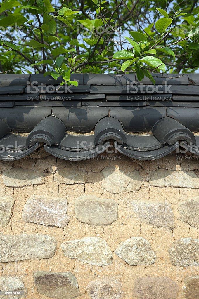 korean traditional wall stock photo