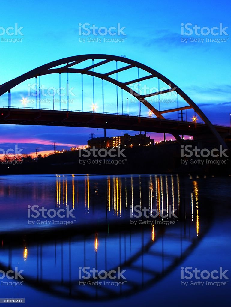 Korean Veterans Bridge stock photo