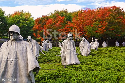 istock Korean War Memorial in Washington DC 521440713
