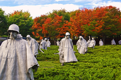 istock Korean War Memorial in Washington DC 521440713