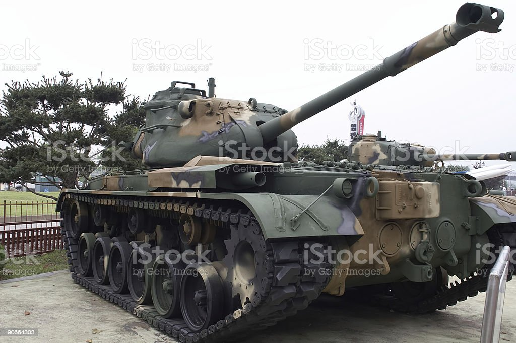 Korean War Tank royalty-free stock photo