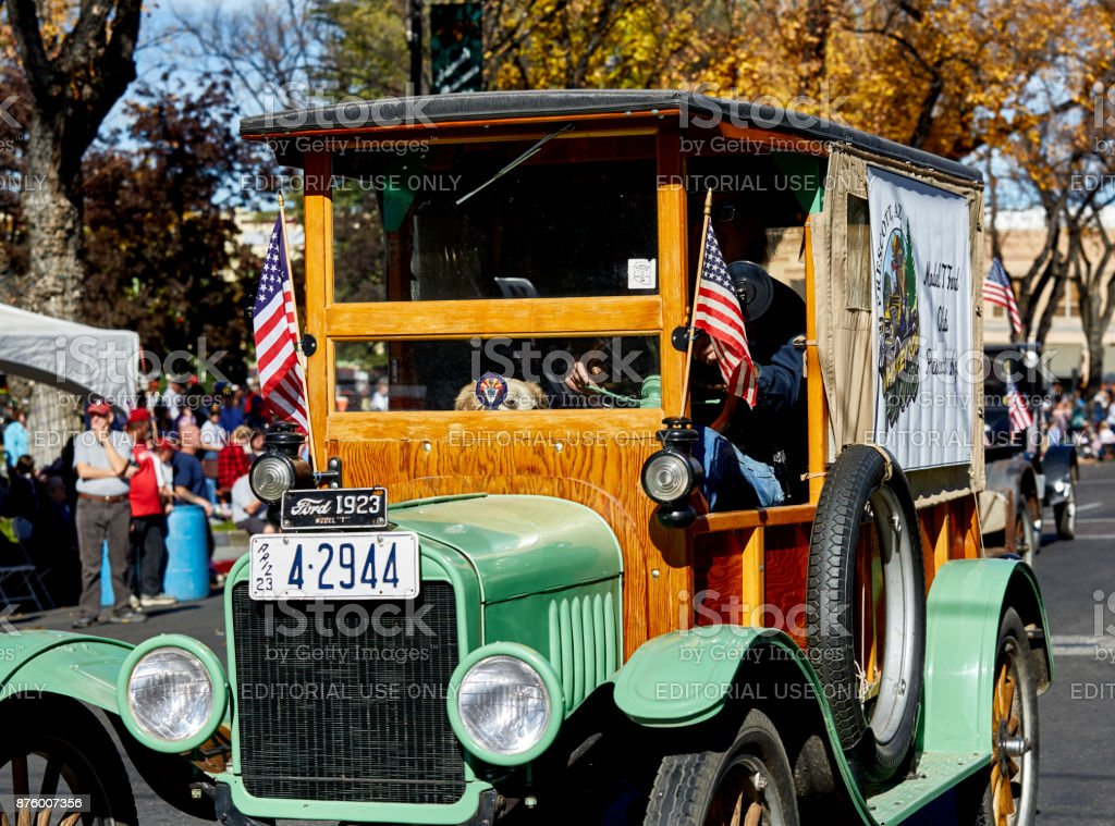 Korean War Veterans in Veterans Day Parade stock photo