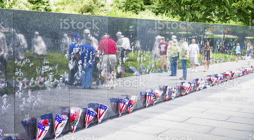 Korean War Veterans Memorial in Washington, D.C. USA royalty-free stock photo