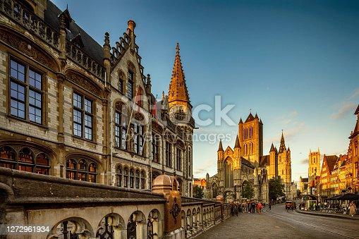 istock Korenmarkt (Central Square) of Ghent, Belgium 1272961934