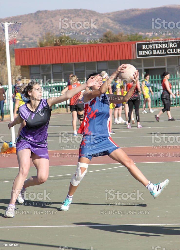 Korfball League Ladies games stock photo