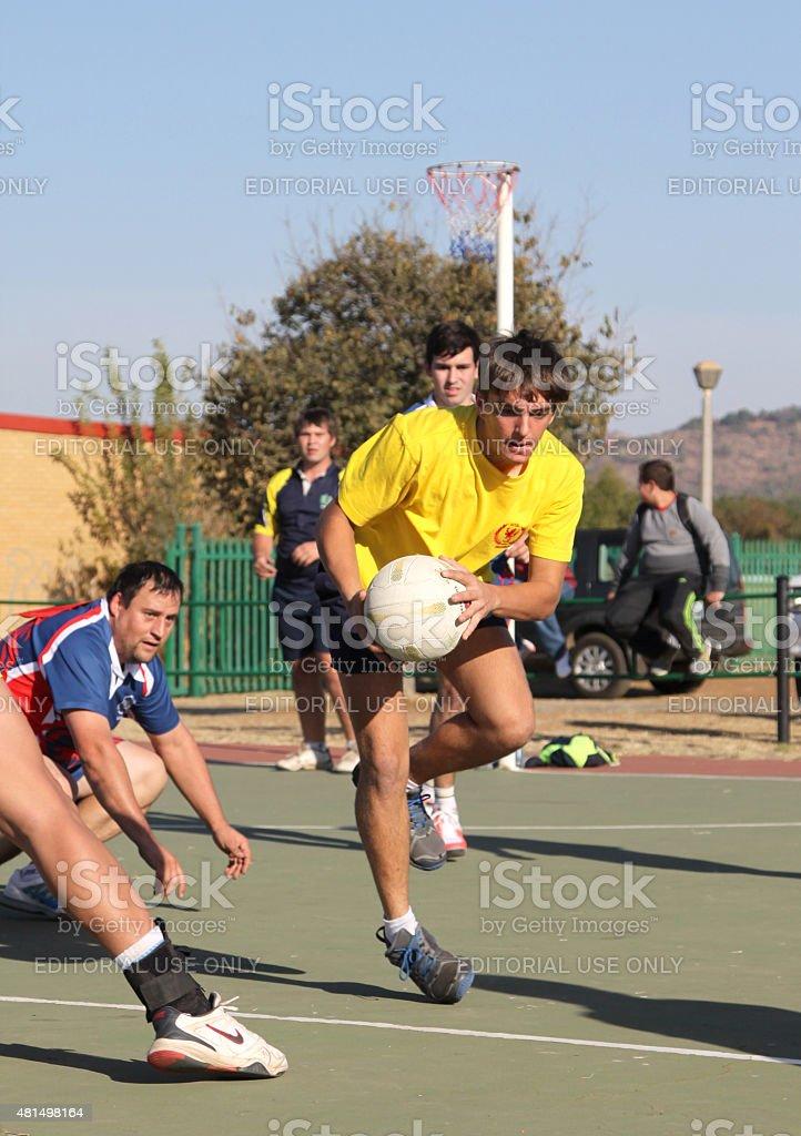 Korfball League Mens games stock photo